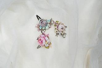 Ozdoby do vlasov - Kvetinové pukačky do vlasov