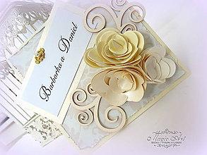 Papiernictvo - Elegancia ruží... - 7374259_