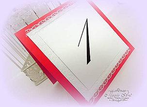 Papiernictvo - Čísla na stoly