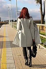 Kabáty - Vlnený kabát - šedý - 7377587_