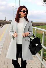 Kabáty - Vlnený kabát - šedý - 7377590_