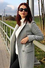 Kabáty - Vlnený kabát - šedý - 7377591_