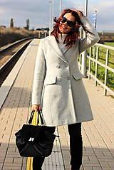 Kabáty - Vlnený kabát - šedý - 7377592_