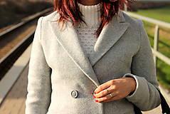 Kabáty - Vlnený kabát - šedý - 7377593_