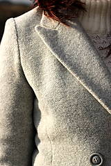 Kabáty - Vlnený kabát - šedý - 7377594_