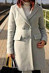 Kabáty - Vlnený kabát - šedý - 7377595_