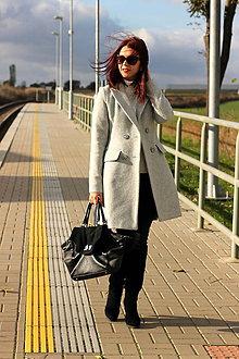 Kabáty - Vlnený kabát - šedý - 7377585_
