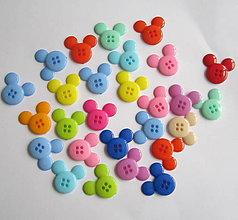 Galantéria - Plastové gombíky Mickey - 7374488_