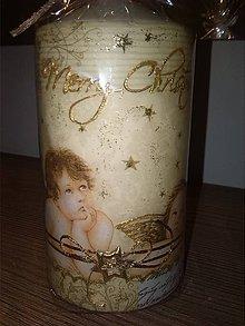 Svietidlá a sviečky - Vianočná sviečka - 7374013_