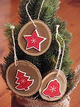 - Vianočné ozdoby na stromček - sada 3 kusov - 7372146_