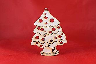 Dekorácie - Drevené vianočná ozdoba stromček  52 - 7372563_