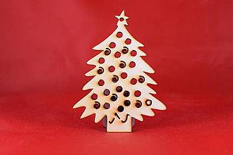Dekorácie - Drevené vianočná ozdoba stromček  53 - 7372584_