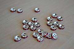 Korálky - Rondelka červená 6mm, 0.07€/ks - 7373993_