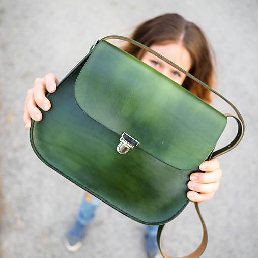 """Kabelky - Zelená kabelka - """"poľovnícka kapsa"""" - 7376265_"""