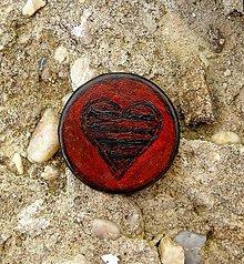 Odznaky/Brošne - Brošňa z kože v barvě bordó - 7374893_