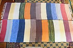 Úžitkový textil - Tkané koberce, súprava so širokými farebnými pásmi - 7374627_
