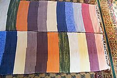 Úžitkový textil - Tkané koberce, súprava so širokými farebnými pásmi - 7374633_
