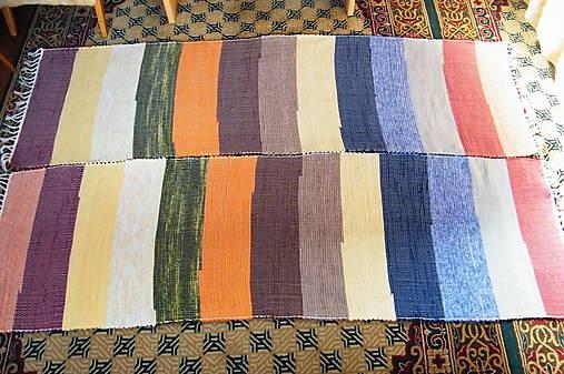 Tkané koberce, súprava so širokými farebnými pásmi