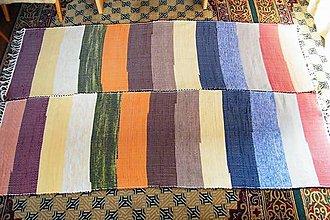 Úžitkový textil - Tkané koberce, súprava so širokými farebnými pásmi - 7374620_