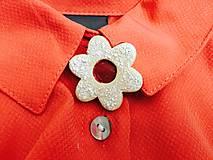 Odznaky/Brošne - Linecký kvietok - brošňa (iný