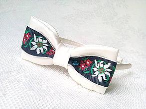 Ozdoby do vlasov - Sweet folklore headband (cream/black) - 7381995_