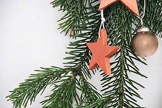 Dekorácie - Malá  hviezdička kolekcia DREVO&MEĎ - 7379972_