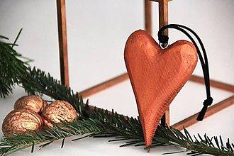 Dekorácie - 3D srdce kolekcia DREVO&MEĎ - 7380085_