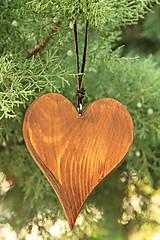 Dekorácie - Smrekové srdce - 7382387_