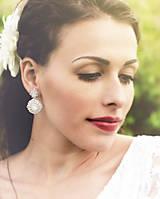 Náušnice - svadobné náušnice ZAMRZNUTÉ VLOČKY (Varianta #1 -Ag 925) - 7381506_