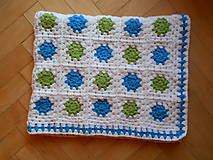 Úžitkový textil - Hačkovaná dečka nielen do kočíka - 7381403_