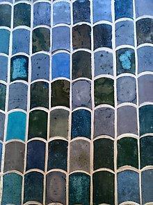 Dekorácie - kachličky modré vlnky - 7381766_