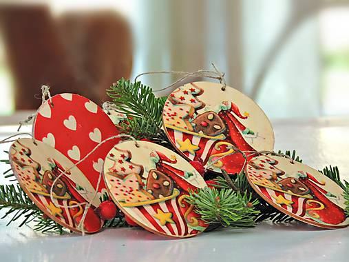 Drevené vianočné ozdoby (Mikuláš 6ks)   Clarah - SAShE.sk - Handmade ... 40d6fb2dbb2