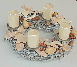 Dekorácie - Adventný veniec, vianočný veniec - 7379293_