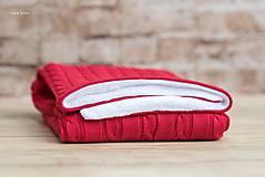 Textil - Zimná deka do kočíka, OEKO-TEX® - Červená - 7379804_