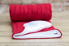 Textil - Zimná deka do kočíka, OEKO-TEX® - Červená - 7379807_