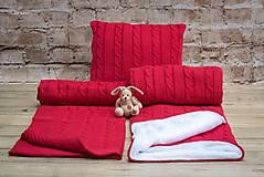 Textil - Zimná deka do kočíka, OEKO-TEX® - Červená - 7379812_