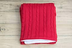 Textil - Zimná deka do kočíka, OEKO-TEX® - Červená - 7379836_