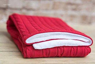 Textil - Zimná deka do kočíka, OEKO-TEX® - Červená - 7379806_