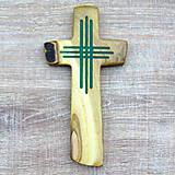 Dekorácie - Drevený krížik - svietiaci II. - 7380690_