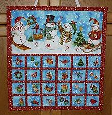 Dekorácie - Adventný kalendár - PREDANÝ (SNEHULIACI) - 7378528_