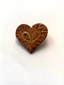 Odznaky/Brošne - Tara šperky/keramika-srdiečko - 7380802_