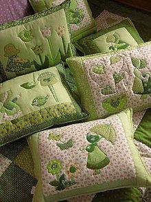 Úžitkový textil - krásne dievčenské vankúše :-) - 7378325_