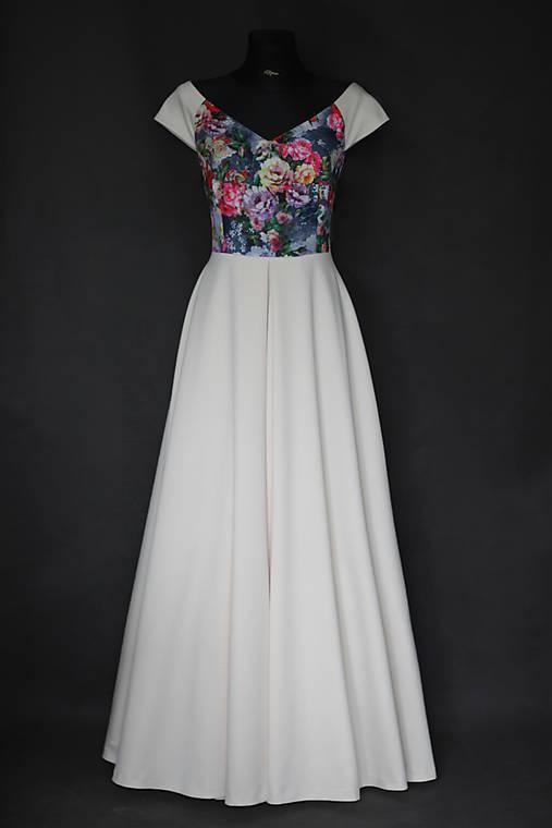 Spoločenské šaty s kvetmi rôzne farby   Dyona - SAShE.sk - Handmade Šaty 004cd380933