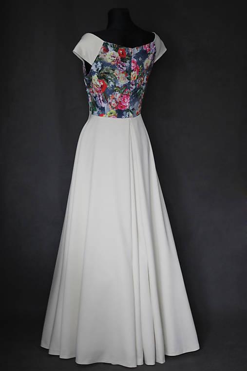 Spoločenské šaty s kvetmi rôzne farby   Dyona - SAShE.sk - Handmade Šaty 2df927f6854