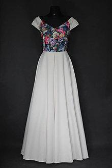 Šaty - Spoločenské šaty s kvetmi rôzne farby  - 7380624_