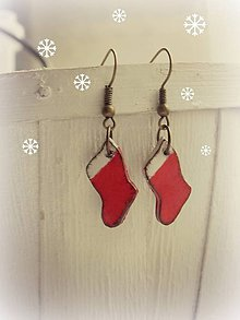 Náušnice - Milujem Vianoce - 7379632_