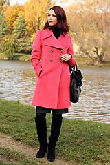Kabáty - Vlnený kabát - červený - 7377621_