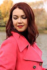 Kabáty - Vlnený kabát - červený - 7377622_