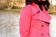 Kabáty - Vlnený kabát - červený - 7377623_