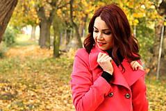 Kabáty - Vlnený kabát - červený - 7377626_